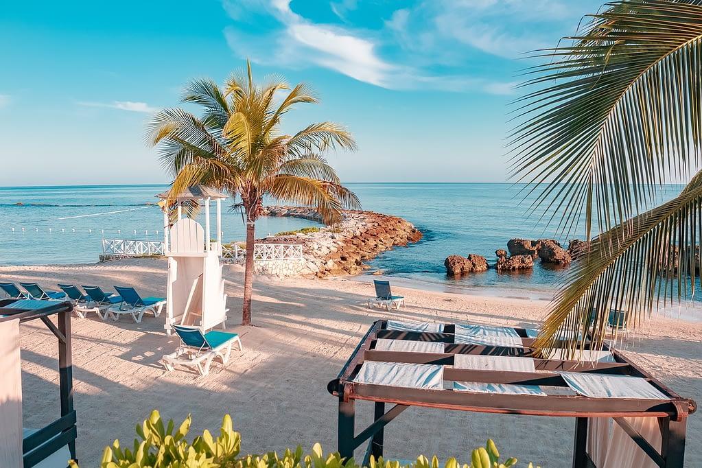 A beautiful beach in Jamaica